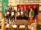 50 Jahre Bläsercorps Hegering Bilstein, Ehrungen